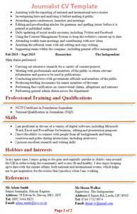 journalist cv template 2
