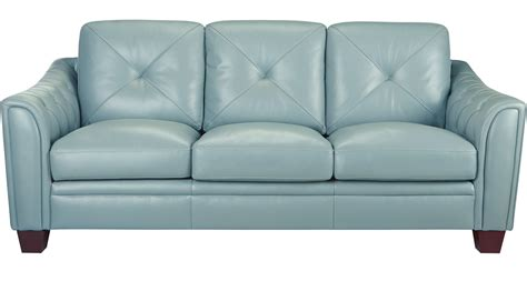 cindy crawford home leather sofa 877 00 marcella spa blue leather sofa classic