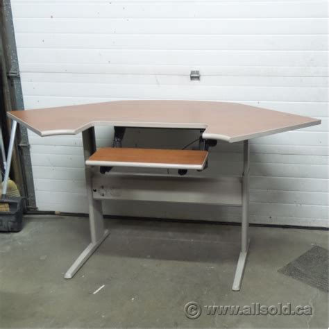 Standing Desk Calgary by Teknion Sit Stand Height Adjustable Corner Desk Allsold Ca Buy Sell Used Office Furniture