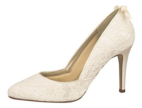 ᐅ rainbow couture brautschuhe agnes ivory vintage satin