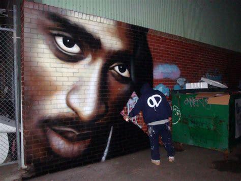 tupac tribute murals  graffiti    world