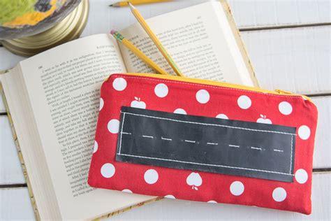 cara membuat zipper pencil case zipper pencil case with chalk board sewing tutorial