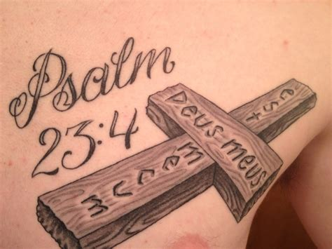 psalm 23 4 tattoo design psalm 23 4 cross www pixshark images