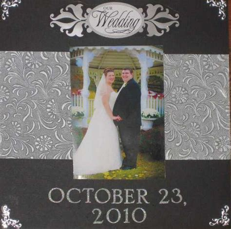 layout for the wedding layout wedding scrapbook cover page