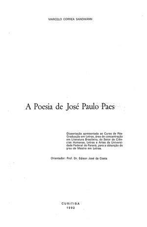 poesia letras hispanicas hispanic 8437606136 calam 233 o a poesia de jose paulo paes d marcelo correa sandmann