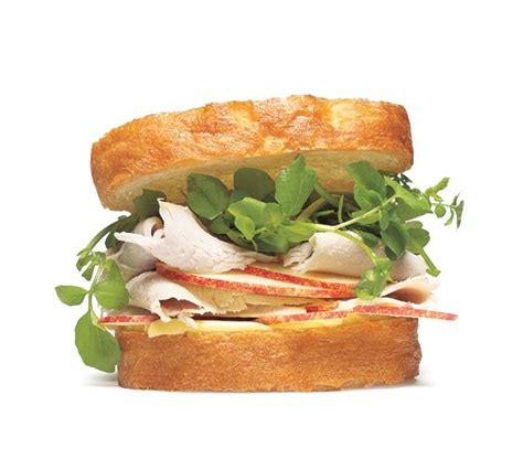 turkey sandwich with watercress and apple 12 creative turkey sandwich recipes real simple