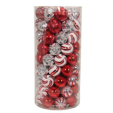 holiday time christmas ornaments shatterproof set of 101 time white silver shatterproof ornaments set of 101 walmart