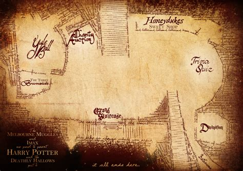 Harry Potter Release Party Map By Acidintimacy On Deviantart Harry Potter Powerpoint Template