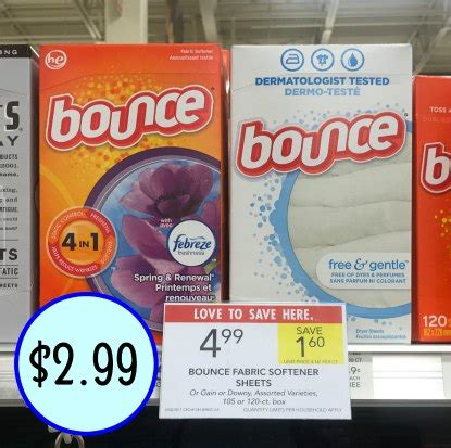 printable bounce fabric softener coupons bounce fabric softener sheets big box just 2 99 at publix