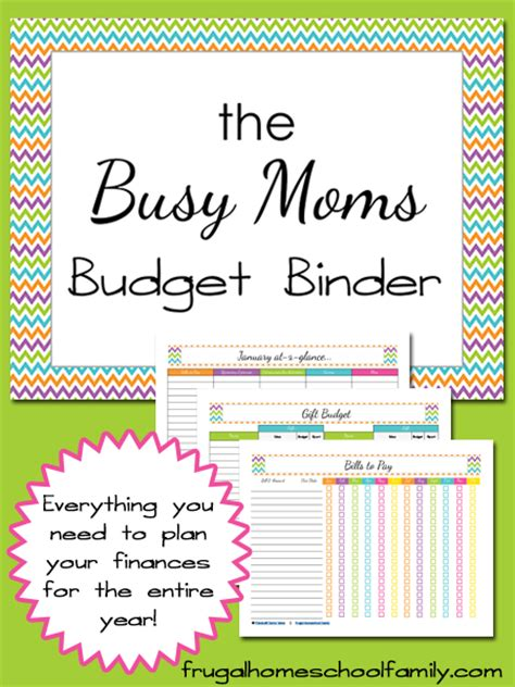 printable busy mom planner budget binder for busy moms