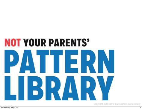 parallel patterns library book not your parents pattern library a fresh approach in