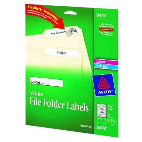 avery file folder labels for laser and inkjet printers 0