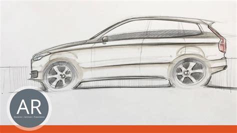 Ford Mustang Auto Zeichen by Autoskizzen Autos Zeichnen Car Design Mappenkurs