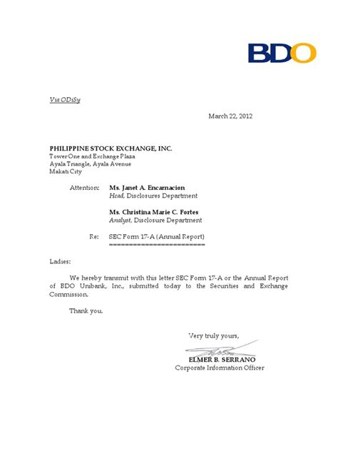 bank certification letter bpi bdo universal bank bdo
