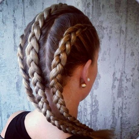 hairstyles of 3 braids atached 3 braids
