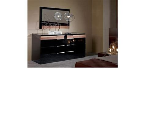 dreamfurniture alaska modern black lacquer bed