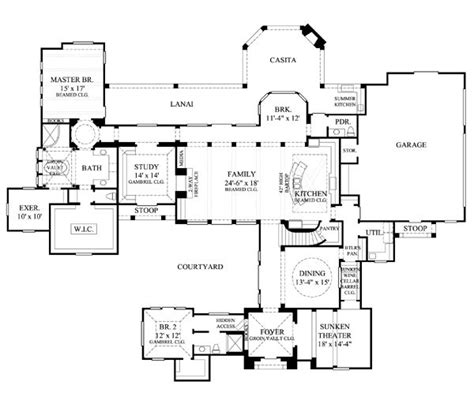 floor plans secret rooms 73 best courtyard floor plans images on pinterest floor