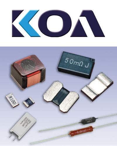 koa resistor industrievertretung f 252 r passive und elektromechanische bauelemente