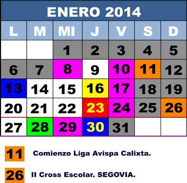 Calendar Htm Calendario De Eventos Sexto A 2013 2014
