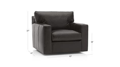 Crate And Barrel Swivel Chair by Axis Ii Leather Swivel Chair Crate And Barrel
