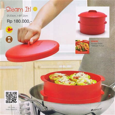 jual tupperware steam it merah tupperware