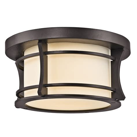 Outdoor Lighting Flush Mount Kichler Lighting 49266az Point Outdoor Flush Mount