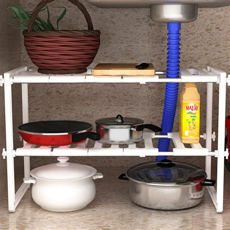 sink adjustable shelves sink caddy rack storage adjustable shelves cabinet