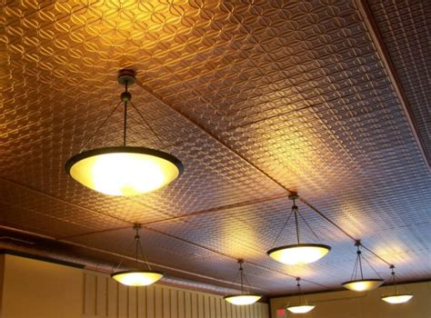 Tin Drop Ceiling Tiles Tin Ceiling Tiles How To Add The Environmental Touch In