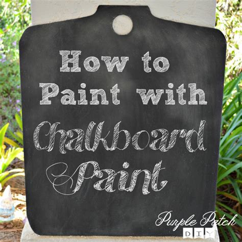 chalkboard paint how to paint with chalkboard paint purple patch diy