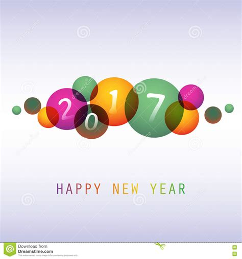 happy new year creative wishes colorful happy new year greeting card cover or background