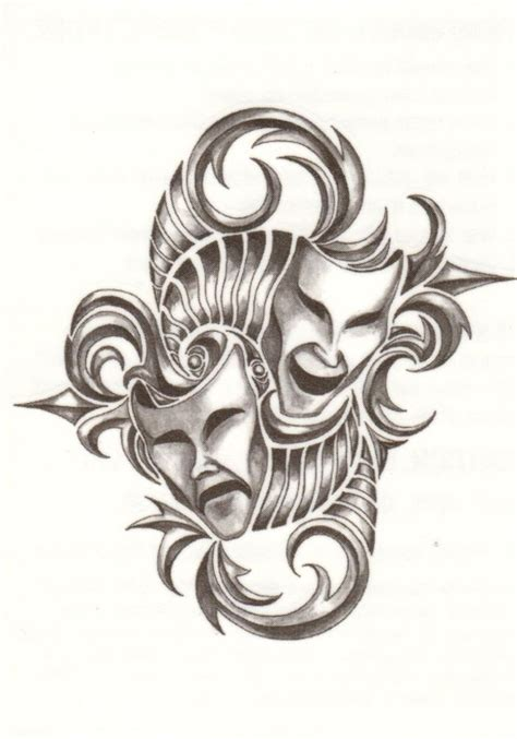 tribal mask tattoos best 25 drama masks ideas on theater mask