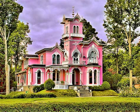 pink houses unusual houses of the world haunted pink house happy
