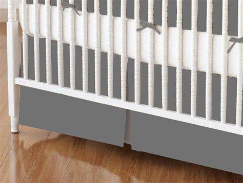 Gray Crib Skirt crib skirt grey jersey knit crib skirts sheets