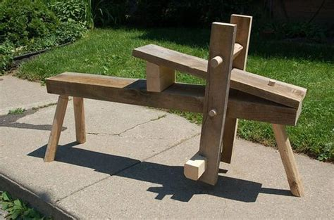 drawing horse bench plans strong structure woodwork no 1 pinterest