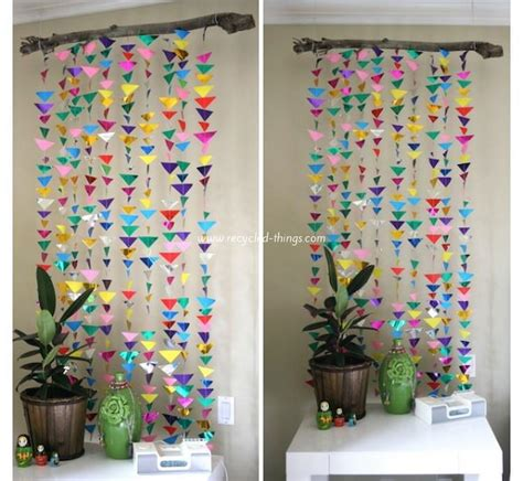 Handmade Room Decoration - diy upcycled paper wall decor ideas recycled things