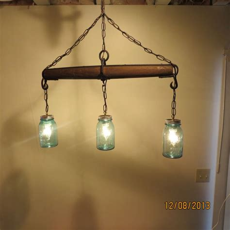 3 Bulb Light Fixture Just Reduced Rustic Handmade 3 Bulb Hanging Light Fixture Or L With Canning Jars