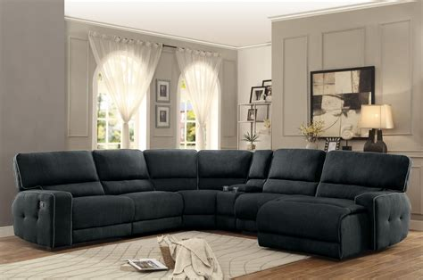 couch with recliners homelegance keamey reclining sectional sofa set a