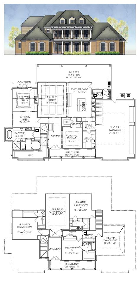 plantation house floor plans plantation house plan 77884