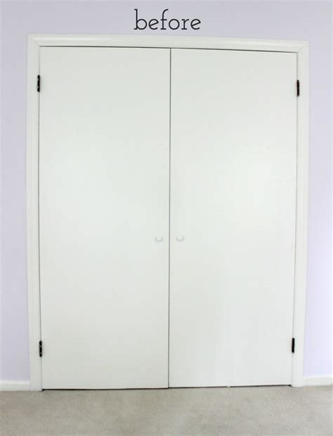 Remodelaholic Add Molding To Update Closet Doors How To Update Sliding Closet Doors
