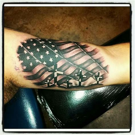 black and gray american flag tattoo 42 flag tattoos