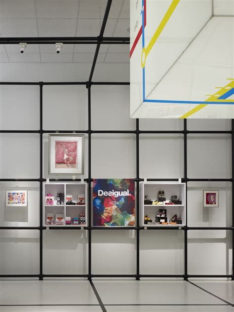 grid layout in interior design interior display detail with pipe grid display cubes and