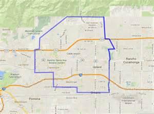 map of upland california ordering dalias pizza