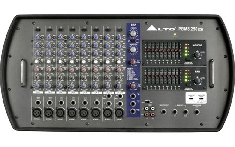 Mixer Audio Alto alto pbm8 250 mkii 500w 8 channel powered mixer with dsp