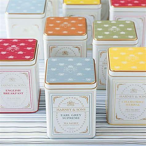 Gourmet tea tins, bridal tea tin favors, Harney & Sons tea