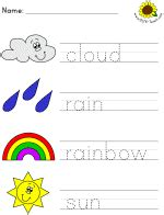 Picture clue read and trace worksheets various themes