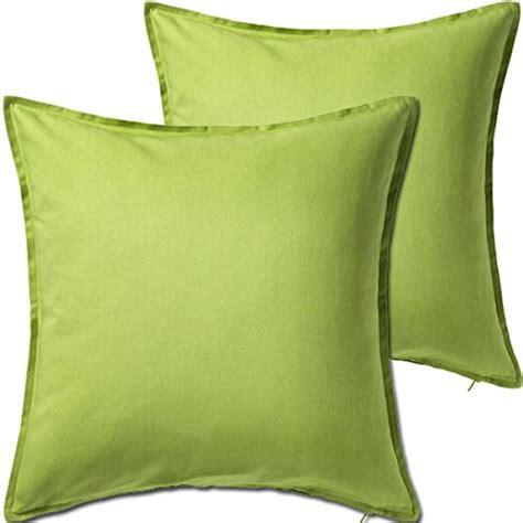 Olus Pillow Light Green 2 pack solid light green decorative throw cushion pillow cover cushion sleeve for 20 x 20