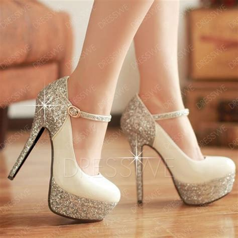 new high heel platform prom shoes with