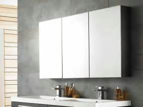 Contemporary Bathroom Mirrors Designs Cool Bathroom Mirror Cabinets With Three Panels Storage
