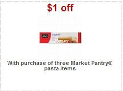 Market Pantry Coupons by Market Pantry Pasta Coupon Target Deal
