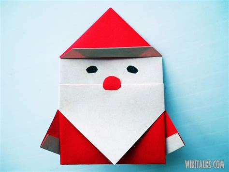 How To Make A Santa Origami - how to make santa claus using origami wiki talks